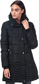 Elle Womens Flore Coat in Black.