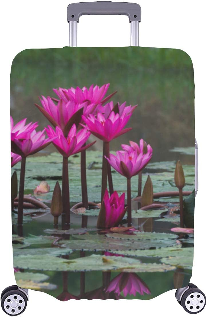 Suitcase Cover Protector Large Elegant Lily Water shipfree Recommendation Fragrant Flowe