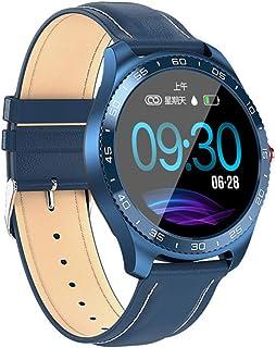 GWX Reloj Inteligente, Gimnasio Sports Tracker Bluetooth Pulsera Redondo Impermeable Completamente Táctil De La Frecuencia Cardíaca Podómetro Android iOS Universales,Azul