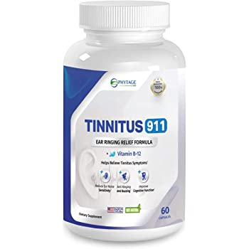 Tinnitus 911 - Phytage Labs (Official - 60 Capsules) - Tinnitus Relief Supplement – Natural Stop Tinnitus Solution - Relieves Ear Ringing, Buzzing, Clicking
