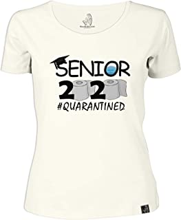 Wackylicious: Funny T Shirt Women's Round Neck T-Shirt Ivory