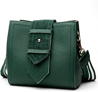 Fashion New Trend Casual Fashion Bills Shoulder Slung Small Leather Handbag (Color : Green)