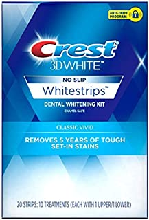 Crest 3D White Classic Vivid Dental Whitening Kit with 20 Strips, 10 Treatments