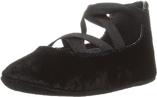 Ralph Lauren 儿童婴儿布斯利亚黑色天鹅绒芭蕾平底鞋