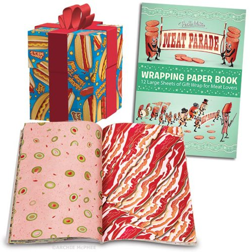 Meat Parade 12-Sheet Gift Wrapping Paper Book