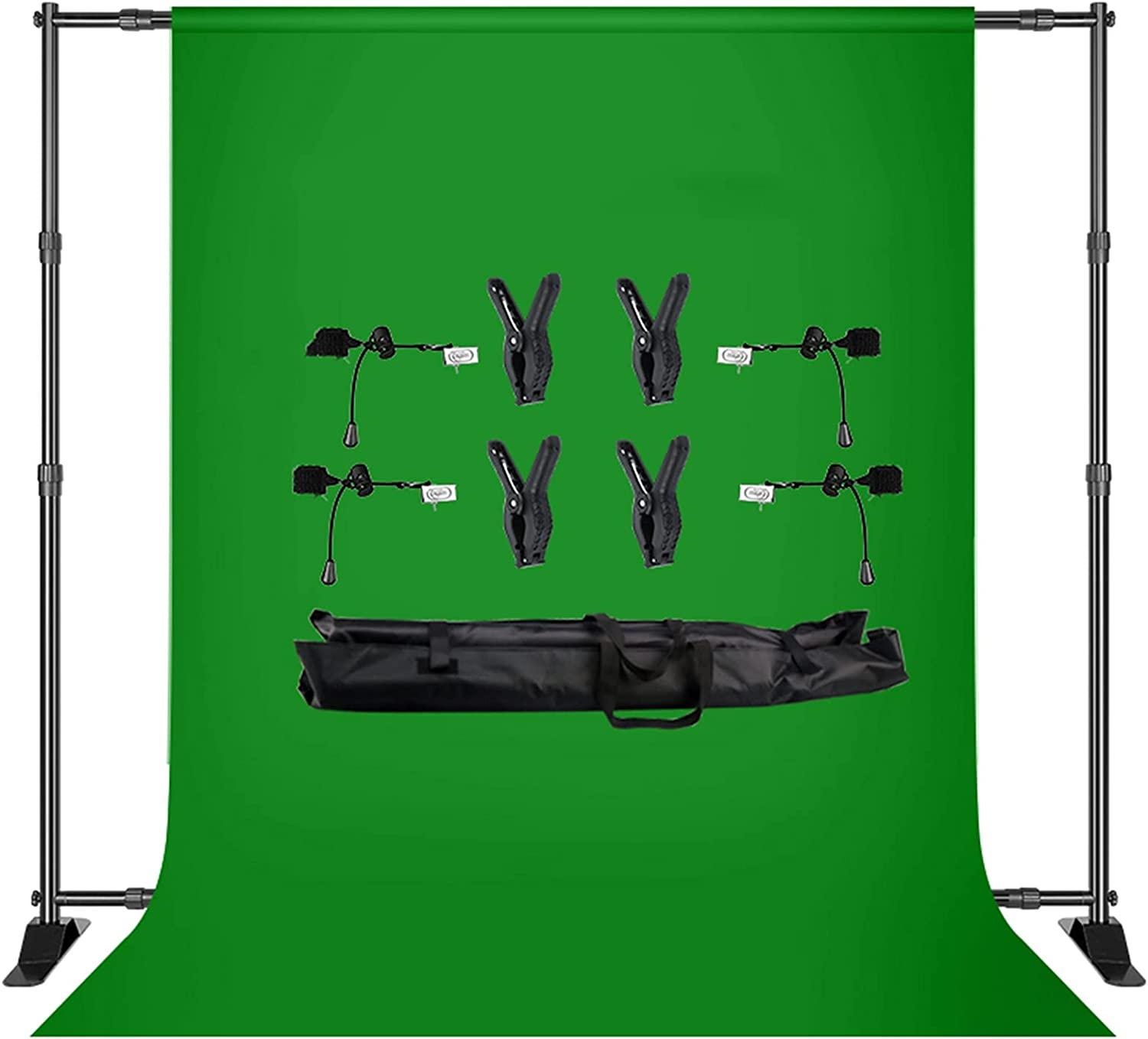 YYFANGYF Tulsa Mall Photo Video Studio Background Kit 2.7x3m Stand New mail order Double-