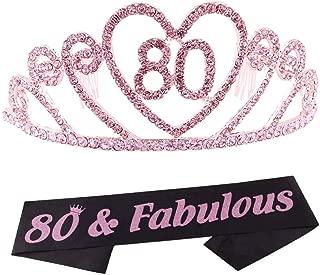 Best 80th birthday sash Reviews