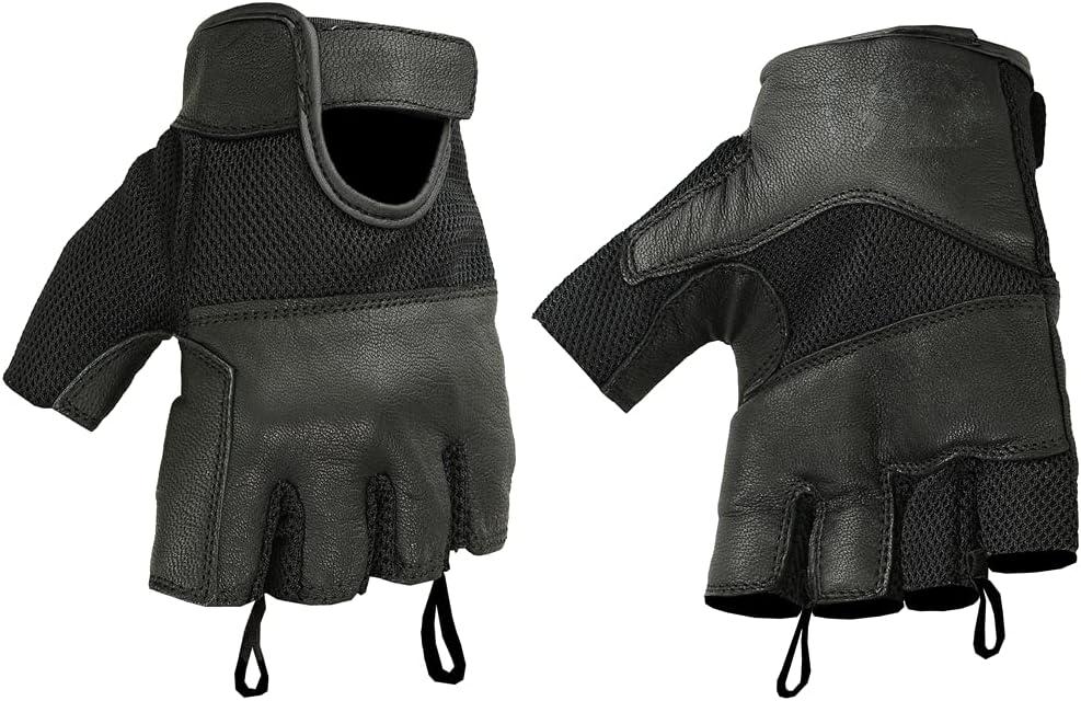 Daniel Smart Leather / Mesh Fingerless Gloves