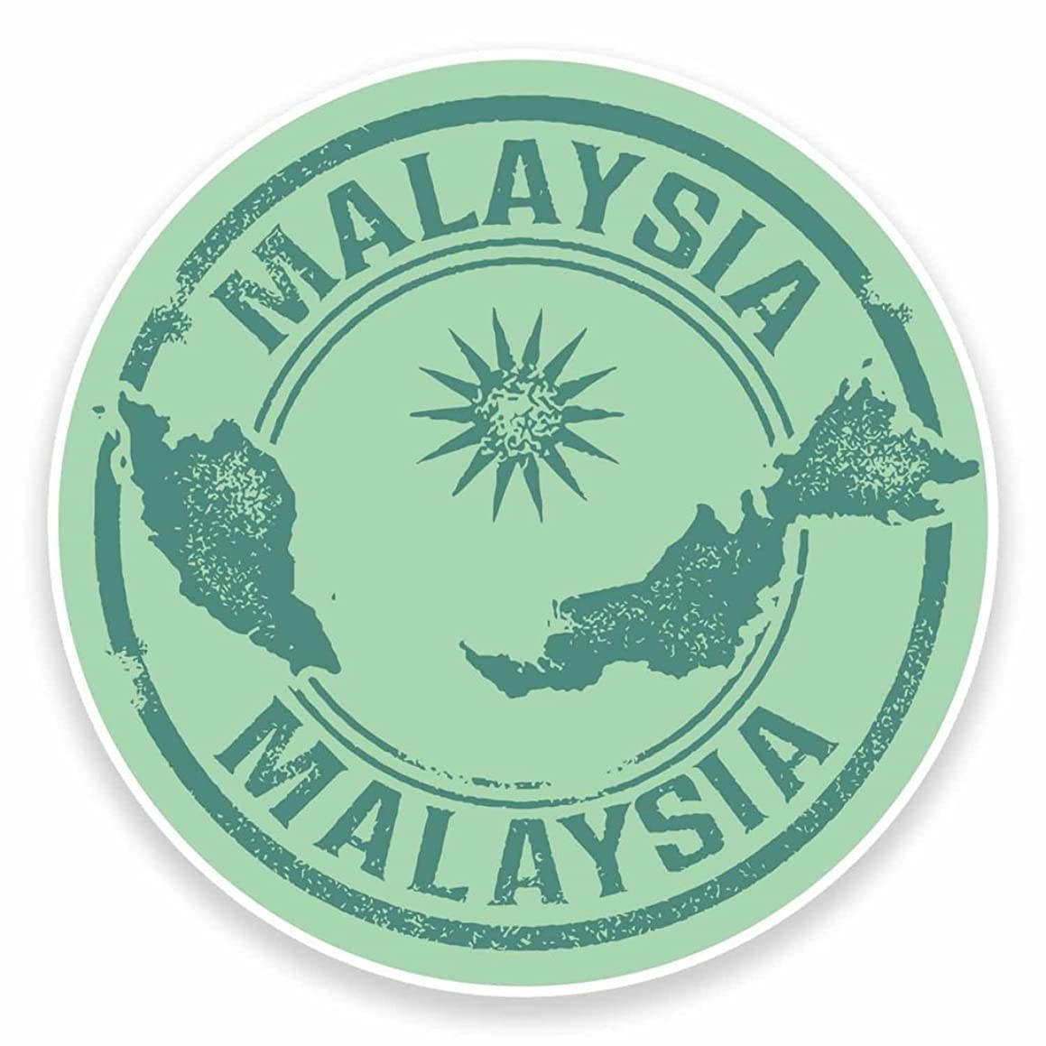 2 x 10cm/100mm Malaysia Vinyl Sticker Decal Laptop Car Travel Luggage Label Tag #9483