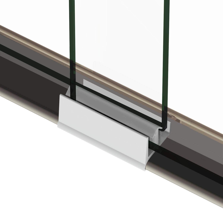 ELEGANT Frameless Sliding Shower Doors 52.5-54 W x 72 H Brushed Nickel Finish 1//4 Clear Glass,Semi