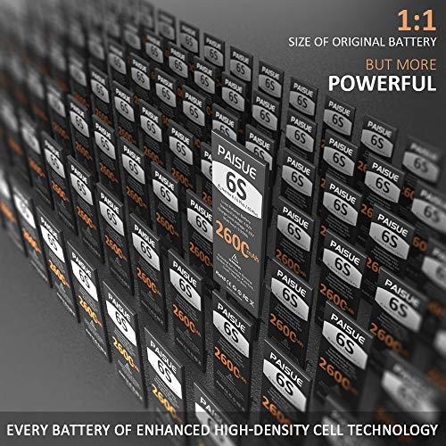 Battery for iPhone 6S, 2600mAh New 0 Cycle Higher Capacity Replacement Battery for iPhone 6S Model A1633 A1688 A1700…