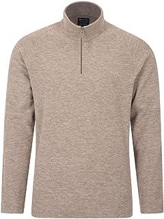 Mountain Warehouse Snowdon Mens Micro Fleece Top - Warm, Breathable, Quick Drying, Zip Collar Fleece Sweater, Soft & Smoot...