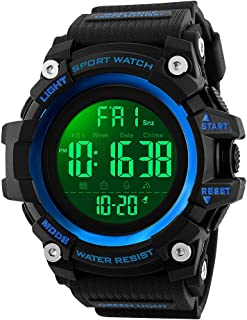 Mens Watches, Waterproof Military Digital Watch with Calendar Chronograph Countdown Timer Alarm LED Backlight Running Sports Watch