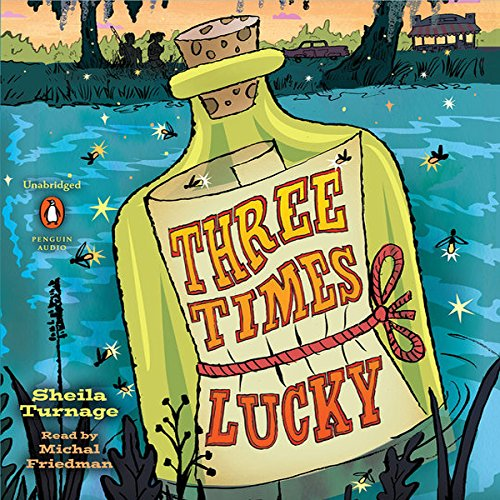 Three Times Lucky audiobook cover art