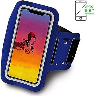 Azul Sovica Brazalete Deportivo Compatible con iPhone 11 Pro MAX Running Neopreno Ajustable Velcro antisudor Antideslizante Bolsillo para Auriculares Llaves