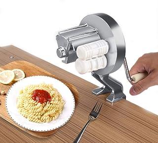CHSEEO Máquina para Pasta Fresca Prensador para Pasta Acero Inoxidable Cortador de Pasta Máquina de Rodillos Noodle Maker Fabrica de Fideos Frescos de Masa Tagliatelle de Lasaña de Espaguetis #3