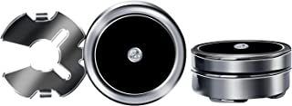 HJ Black Oil Drop with A Rhinestone Button Covers 10mm Cuff Links for Men