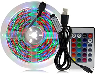 LED Lights Strip for Bedroom - 3 Meters, 5050 SMD, RGB Full Color, 90 Bright LEDs, Support up to 50,000 Hours, IP65 Waterp...