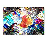 Startonight Glass Wall Art - Abstract Multicolored Mosaic - Tempered Acrylic Glass Artwork 24 x 36 Inches