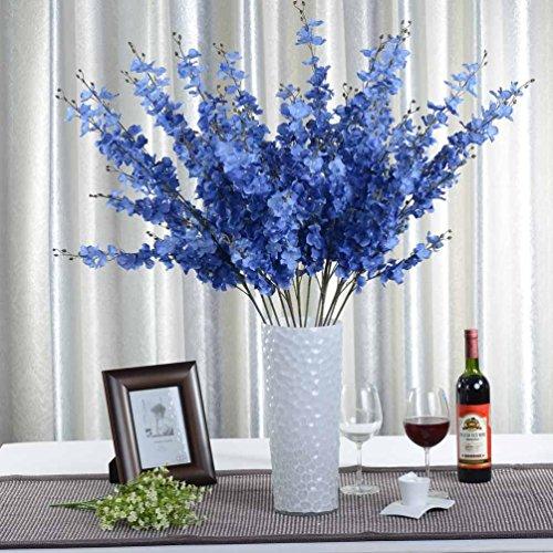 1x artificial Jasminum flor artificial para la decoración del hogar sin jarrón y cesta, 1Bunch de flores, azul