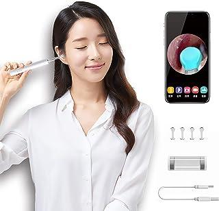 耳かき カメラ イヤースコープ 3.5mm極細レンズ 300万画素 1080P高画質 電子耳鏡 IP67防水 LEDライト付き 耳掃除 耳垢クリーニング 耳かきセット 無線WIFI接続 IOS&Android対応 日本語取扱説明書付き(白)