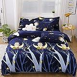 Eantpure Bedding Set,Tessili per la casa Biancheria da Letto in Cotone Quattro set-34_Quattro Pezzi (1,5 * 2,0 m),Materassi in Memory Foam