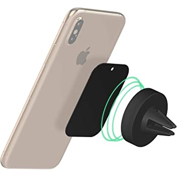 Magnetic Phone Car Mount by TalkWorks | Universal Cell Phone Holder Air Vent Magnet Compatible with Apple iPhone 11, 11 Pro/Max, XR, XS/Max, X, 8, 7, 6, SE, 5 & For Samsung Galaxy S20, S10, S9, S8