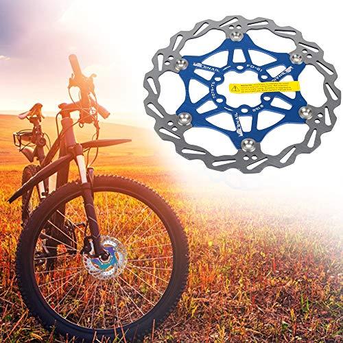 Rotor de Freno de Disco Flotante de Bicicleta con 6 Pernos Accesorios de Bicicleta de Bloqueo Central de Disco de Freno Flotante para Bicicleta de Carretera de montaña MTB (Azul,160mm)