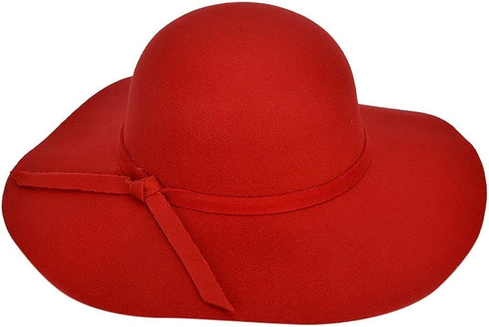 Wide Brim Bucket Felt Fedora Women Cloche Bowler Cap Crushable Ladies Floppy Wool Felt Bowler Beach Hat Sun Cap Summer