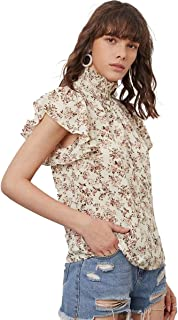 Butterfly Sleeve Ditsy Floral Top