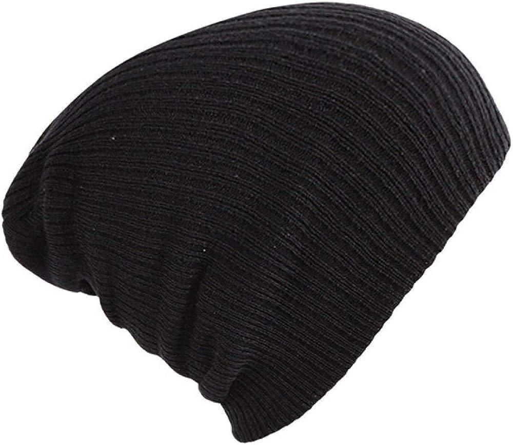 CICSI Mens Winter Hat Winter Warm Beanies Hats Acrylic Skullies Hip Hop Soft Knitted Hat