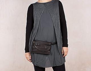 Marsupio in pelle, borsa di vita del cuoio, vita nero, Hip Pouch, borsa della vita, sacchetto bumb, marsupio, sacchetto de...