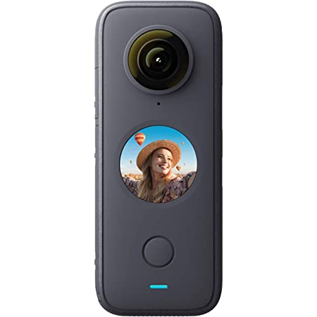 Insta360 ONE X2通常版 360度アクションカメラ 5.7K 360度動画 FlowState手ブレ補正 1630mAh大容量電池 10メートル防水 4マイク内蔵 360度オーディオ 360度全天球カメラ【Insta360公式】