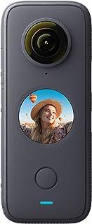 Insta360 ONE X2 Cámara de acción impermeable de 360 grados, 5.7 K 360, estabilización, pantalla táctil, edición de AI, tra...