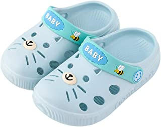 Whear Toddler Kids Classic Clogs Slip on Sandals Water Shoe for Boys Girls Beach Pool Shower Slippers Lightweight