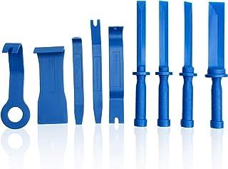 CCLIFE 9tlg Auto Zierleistenkeile Kunststoffschaber Set, 19 22   25 38 mm Klebegewichte Entferner Auto Demontage Werkzeuge