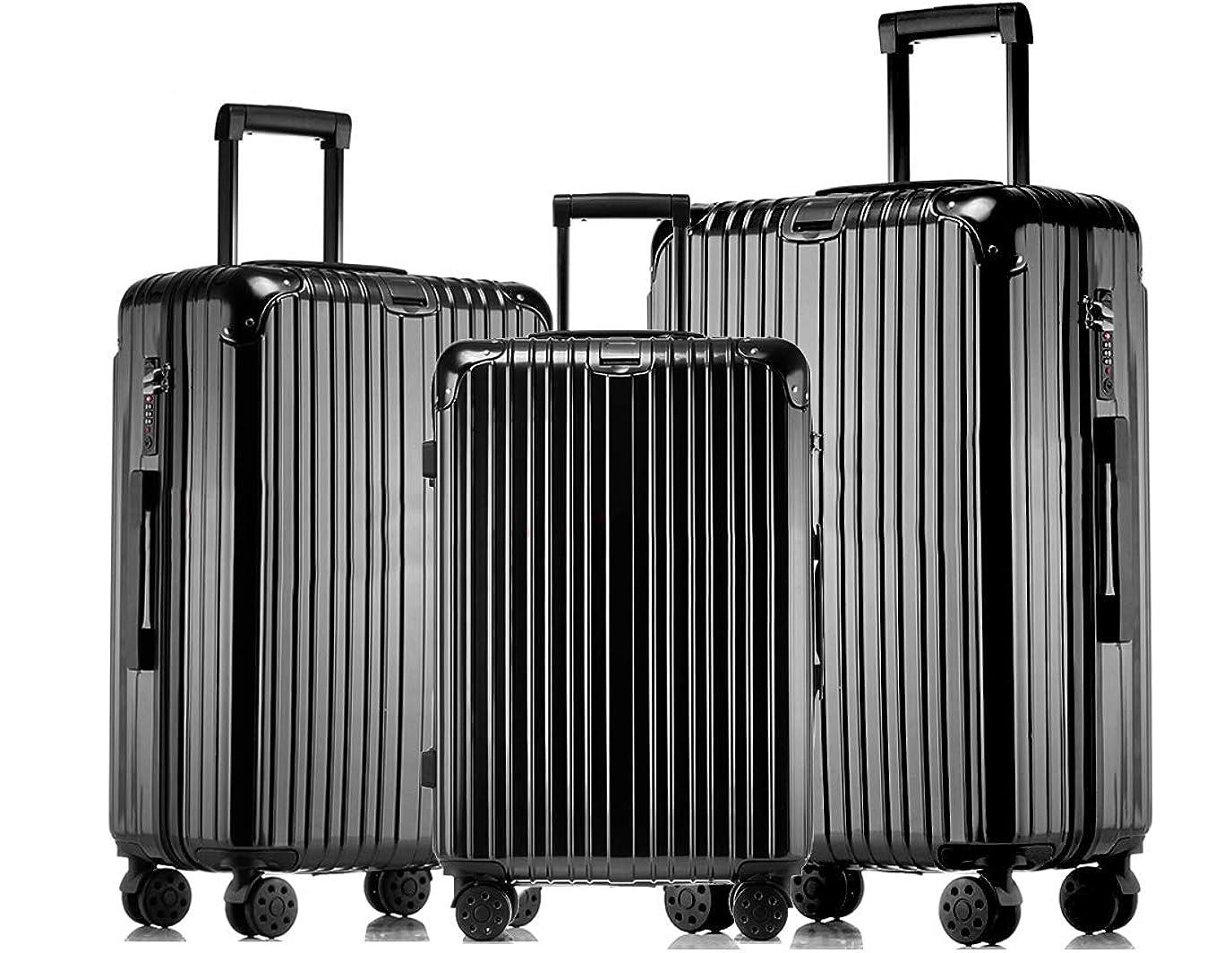 効率的にフルーツ野菜秘書JINXIANGMEI スーツケース 機内持ち込みスーツケース TSAロック キャスター 海外旅行 3点セット(S+M+L)3003