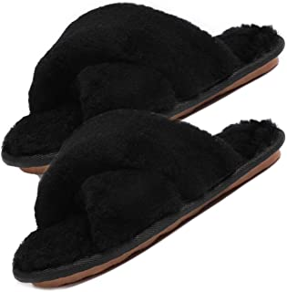 Best real fur slippers Reviews
