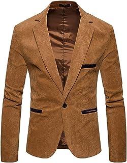 Men's Corduroy Suit Fit Slim Button One Smart Coat Comfortable Sizes Solid Color Casual Business Blazer Jacket Jacket Men ...