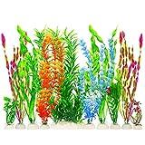 MyLifeUNIT - Plantas artificiales para acuarios, plástico, 10 unidades, Set of 10, 3.9 inch(100 mm)