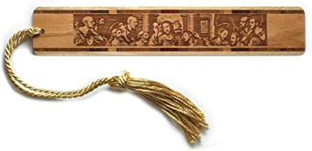product image for The Last Supper Engraved Handmade Wooden Bookmark with Tassel - Also Available Personalized