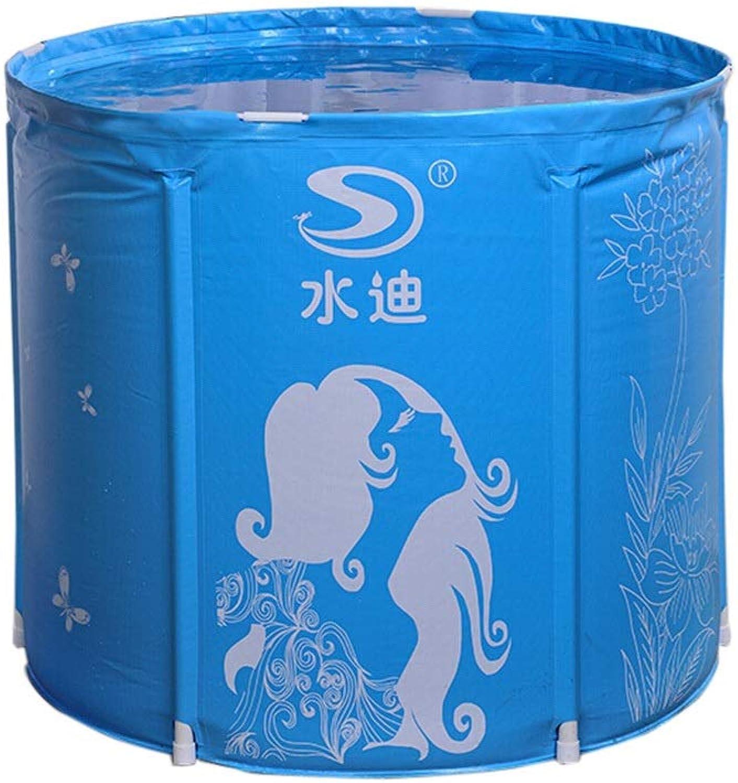 TONG YUE SHOP Folding Bath Barrel Plastic Bath Barrel Family Bath Barrel Folding Bath Barrel Thickening Adult Tub Bath Tub