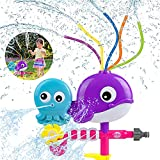 VATOS Spruzzatore di Acqua Giocattoli per Bambini Acqua di Polpo di Balena Spray con Tubi oscillanti Gioca con i Bambini Piccoli in Giardino Prato all'aperto Giochi di Schizzi d'Acqua Estivi