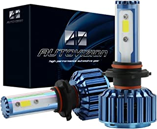AUTOVIZION H13(9008) LED Headlight Bulb for any H13 Halogen Headlight Bulb upgrade to LED (1 pair,  Cool White)