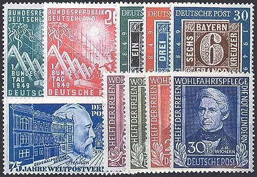 Goldhahn BRD Bund Jahrgang 1949 postfrisch  MNH komplett Nr. 111-120 Briefmarken für Sammler