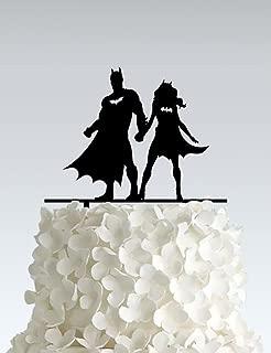 Acrylic Wedding Cake Topper - Batman couple