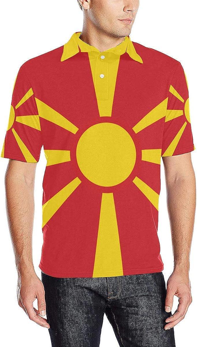 Lumos3DPrint Macedonia Cheap mail order sales Flag Shirt Men's Polo Ranking TOP5