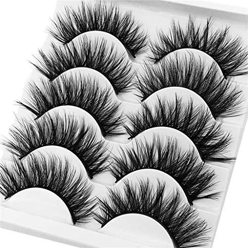 Flamedre Lashes Mink Multipack 5 Pairs Faux 3D Eyelash Imitation Mink Natural Thick False Eyelash For Makeup Eyelashes Extension