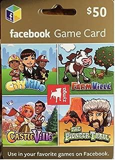 Zynga Facebook $50 Gift Card
