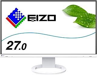 EIZO FlexScan EV2760-WT (27.0型/2560×1440/フレームレスモニター/アンチグレアIPS/疲れ目軽減/ホワイト)